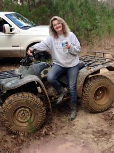 I'm just a little Southern gal who loves the mud!